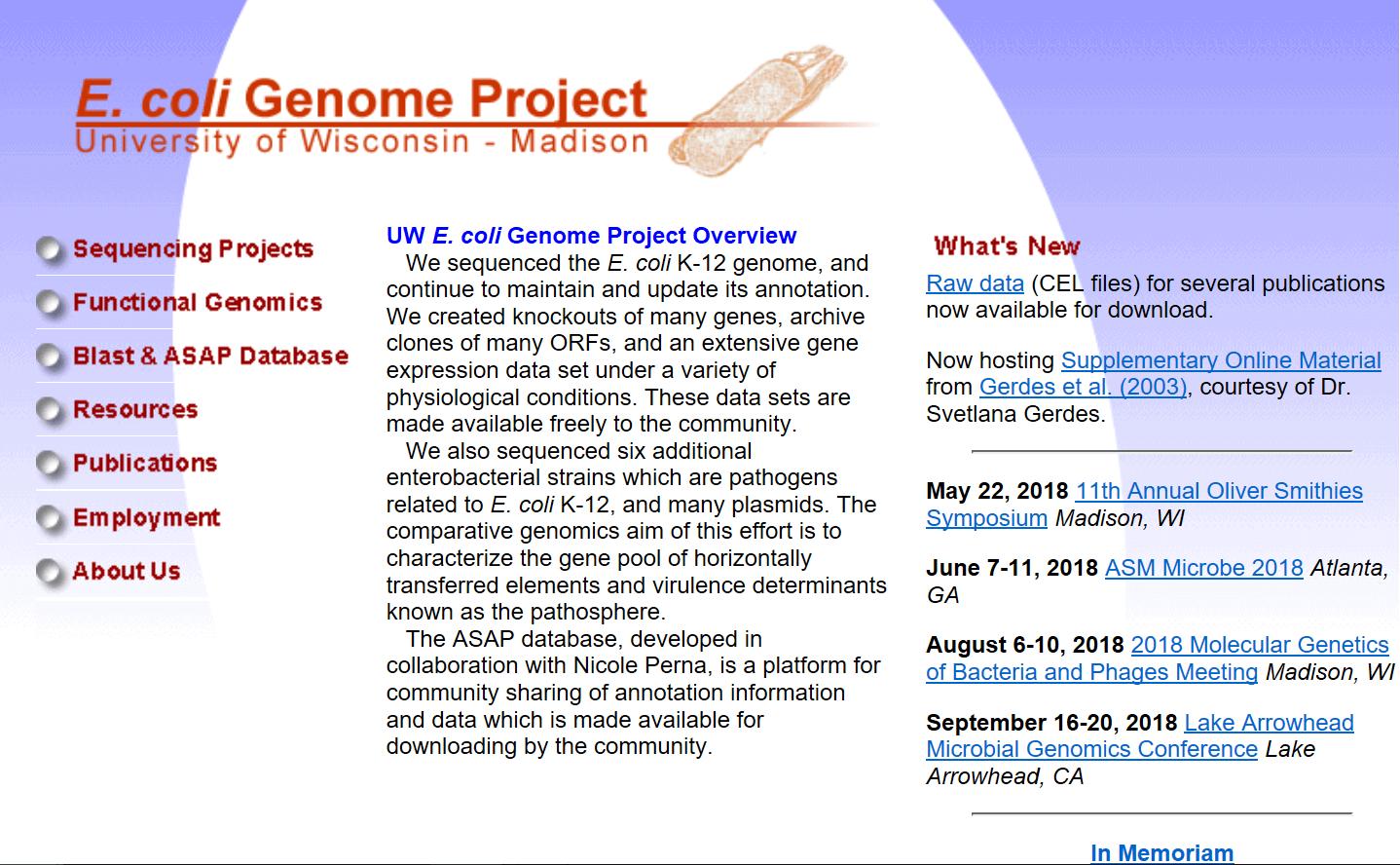 Fig.5. E.coli Genome Project