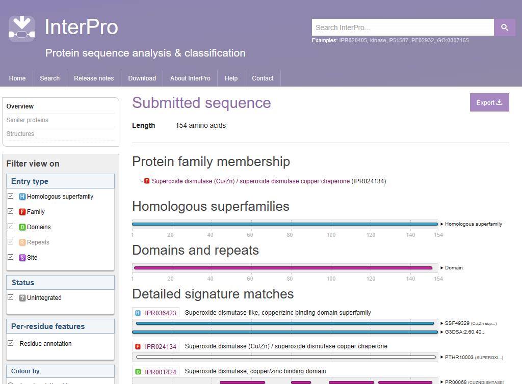 Фигура 7. Структура на база данни InerPro