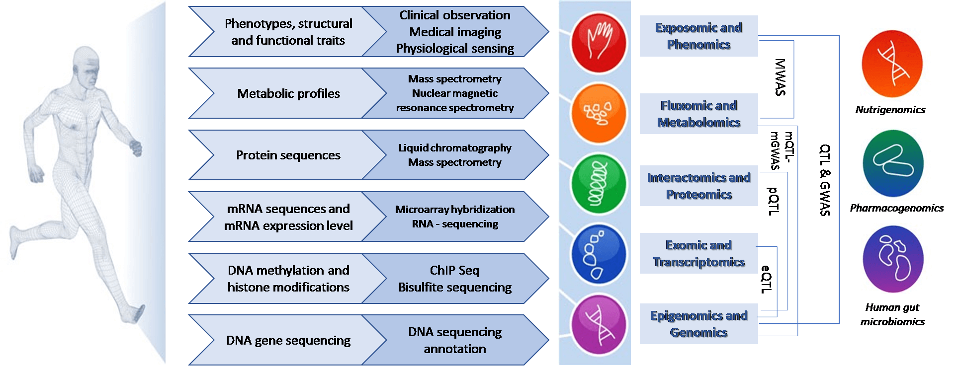 "Figure 3. Outline of the ""OMICS"" approach for studying disease mechanisms."